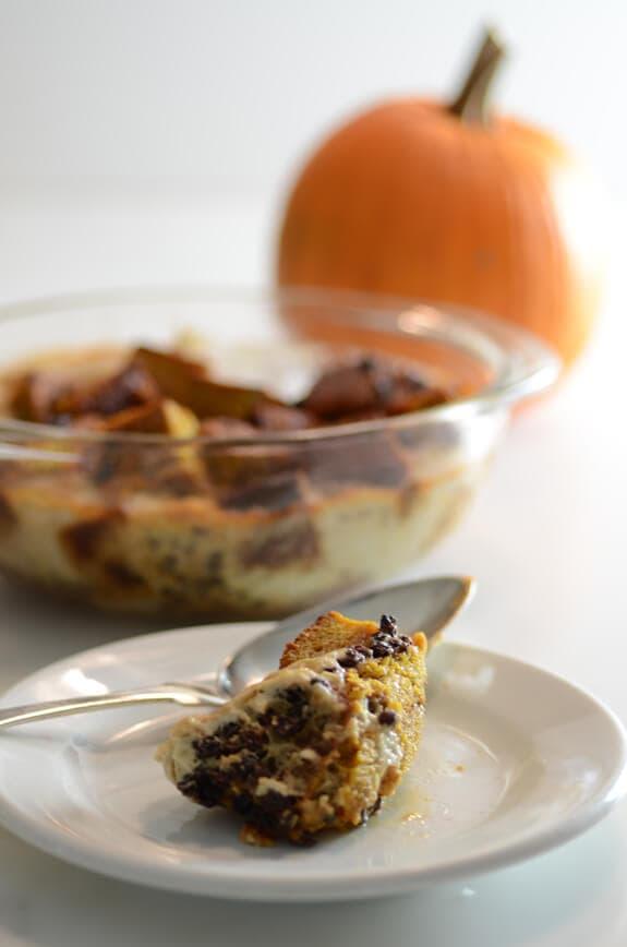 paleo pumpkin bread pudding recipe