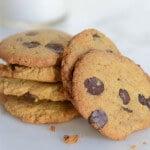 Crispy Chocolate Chip Cookies gluten-free paleo cookie recipe