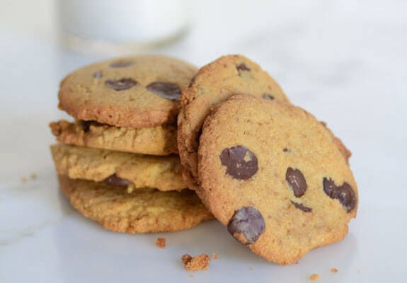 Crispy Chocolate Chip Cookies gluten-free paleo cookie recipe