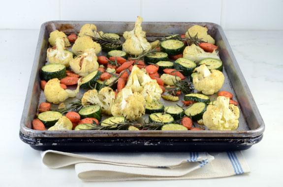 Roasted Carrots Zucchini Cauliflower recipe