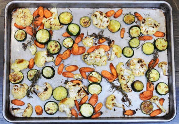 Roasted Carrots Zucchini Cauliflower recipe