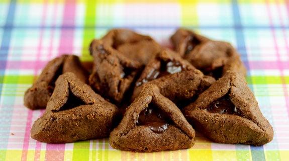 Nut-Free Chocolate Hamantaschen purim recipe