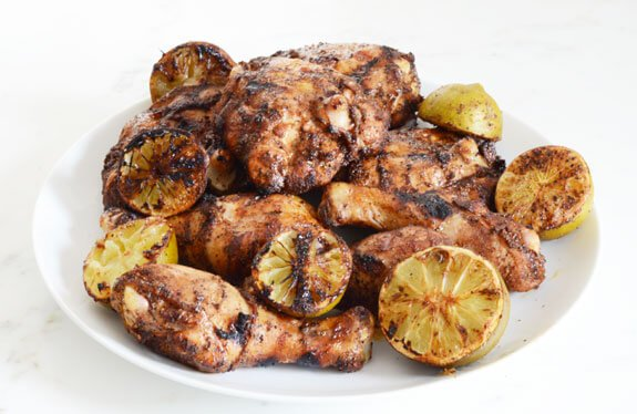 Spicy Chicken with Grilled Limes recipe