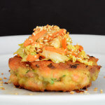 Wasabi Salmon Burgers paleo dinner recipe