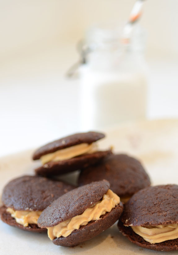 Chocolate Peanut Butter Whoopie Pies recipe