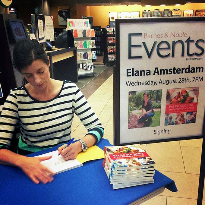 elana amsterdam book signing paleo cooking barnes and noble