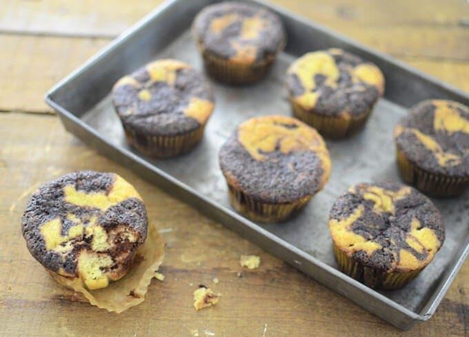 Paleo marble cupcakes