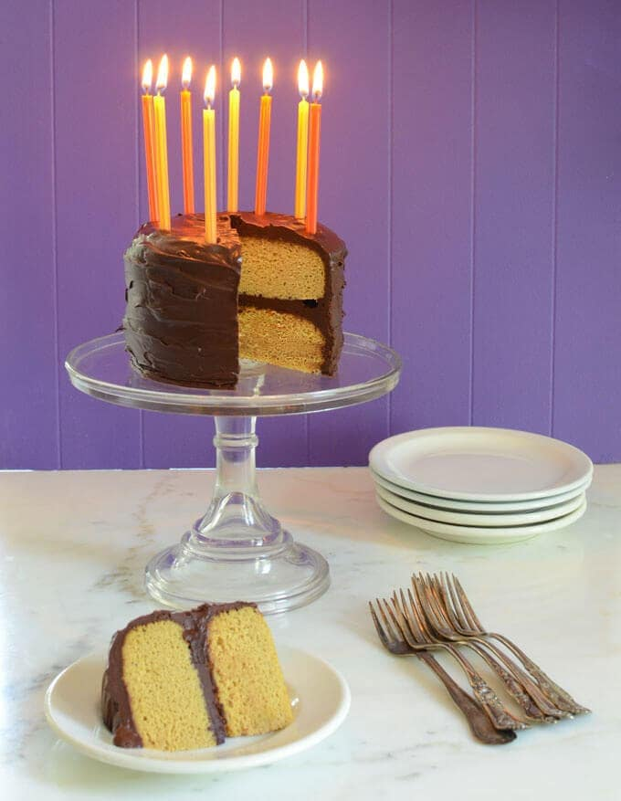 Fabulous Paleo Vanilla Birthday Cake Elanas Pantry Funny Birthday Cards Online Alyptdamsfinfo
