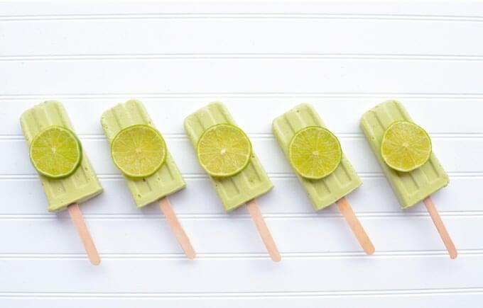Keto Lime Creamsicles