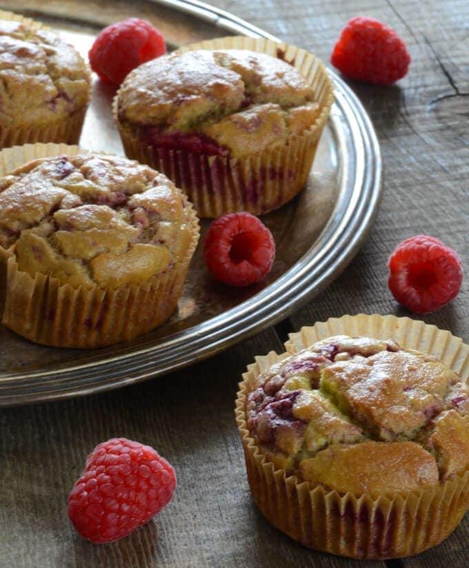 Keto Raspberry Lemonade Muffins