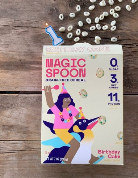 Magic Spoon Keto Cereal Birthday Cake