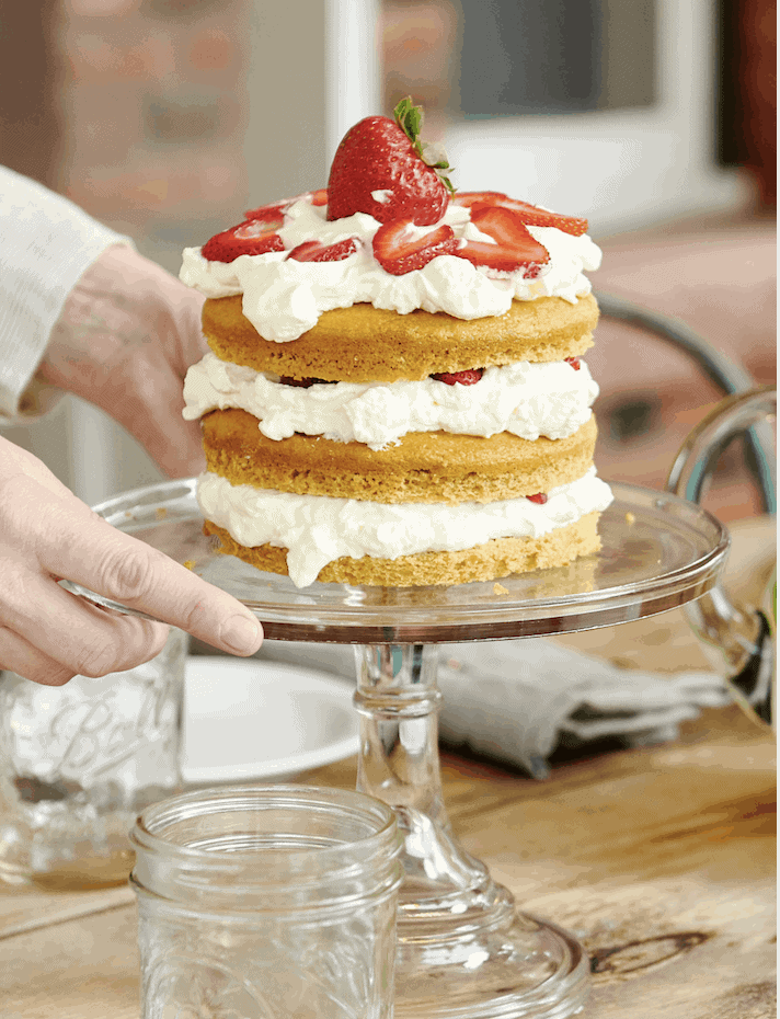 Low-Carb Strawberry Shortcake