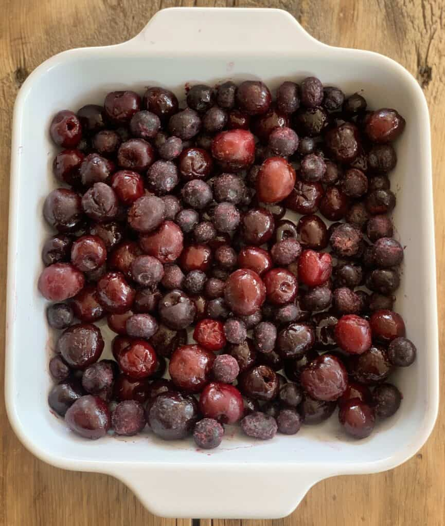 Blueberry Crumble with Cherries