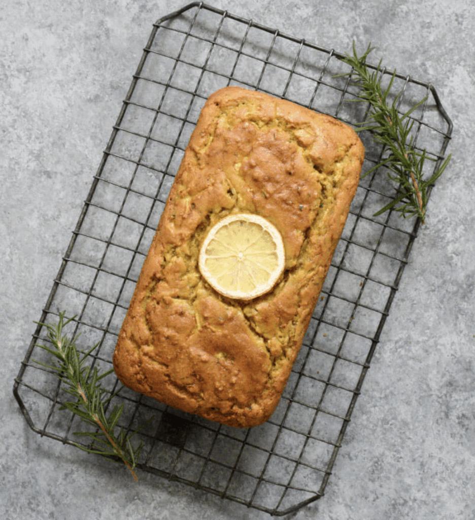 Lemon, rosemary and zucchini bread