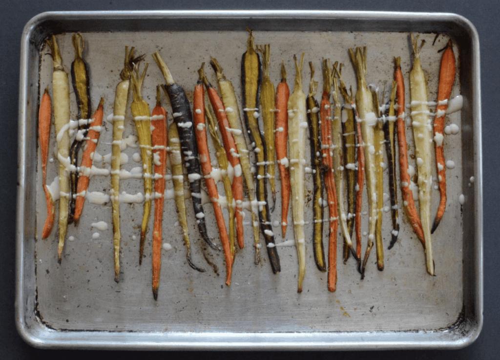 Tahini Roasted Carrots Oven