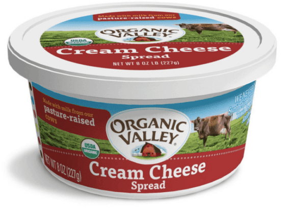 Bagels with Cream Cheese Organic Valley Cream Cheese